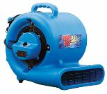 A high velocity air mover is placed on the floor to speed dry it.